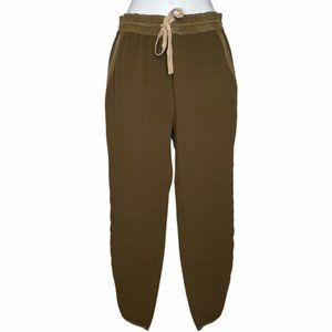 Wilfred by Aritzia silk trimmed drawstring pants